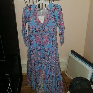 Blue Streak II 3/4 Length Sleeve Maxi Dress